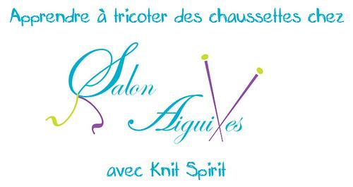 cours tricot chaussettes chez Salon Aiguilles
