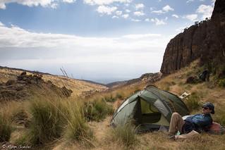 Craig Relaxing At Camp