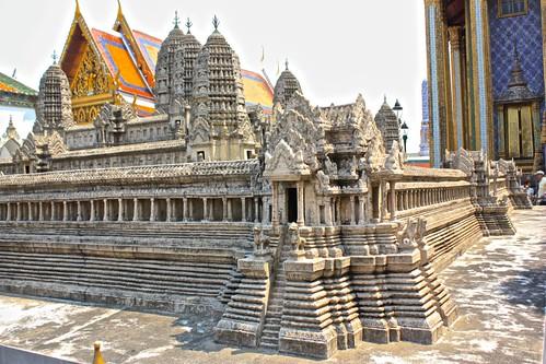 mini Angkor Wat on display