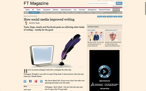 How social media improved writing