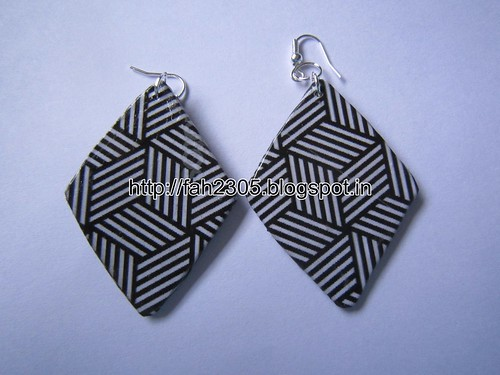 Handmade Jewelry - Card Paper Earrings (6) by fah2305