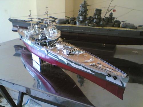 Tàu chiến HMS Prince of Wales 1 bằng giấy 100%