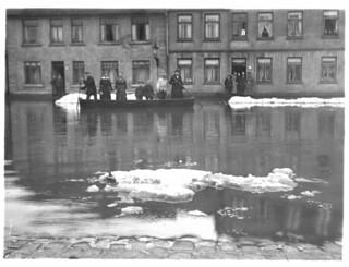 Hochwasser, Sankt Georgstraße 62, 21. - 23. Januar 1918