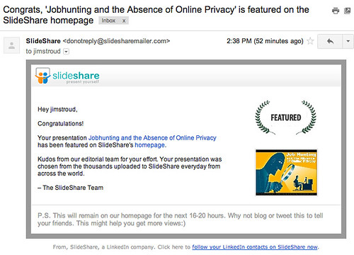 I was featured on Slideshare