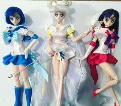 These are some Sailor Moon obitsu customs I made a couple years ago. I still need to finish Jupiter and Venus. #customdoll #obitsu #sailormoon #sailorcosmos #bjd