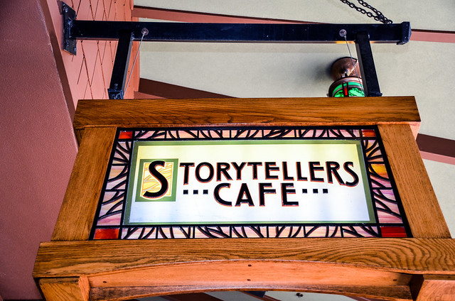 Storytellers Cafe sign
