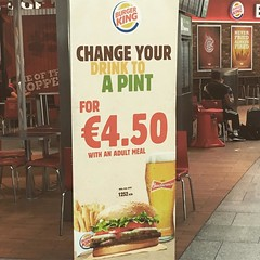 Get wasted with your whopper. #Ireland #Dublin #BK #BurgerKing