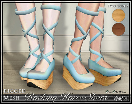 Rocking Horse Shoes from Wishbox in Second Life (Robins Egg Blue)