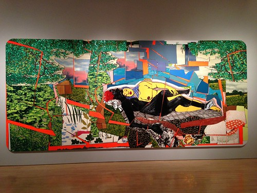 Painting @ Mickalene Thomas show, Brooklyn Museum