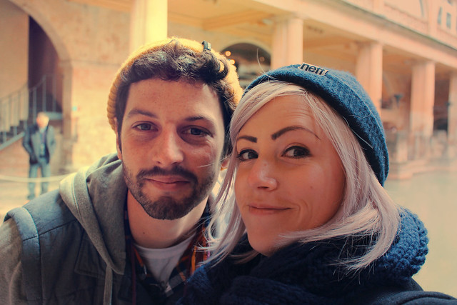 Rosie and Tom at the Roman Baths