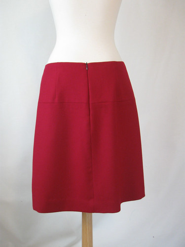 Fuschia skirt back