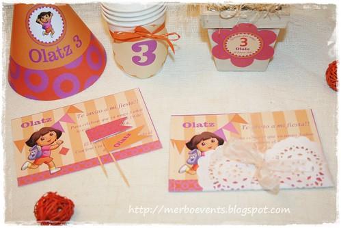 Invitaciones Kit Imprimible Dora