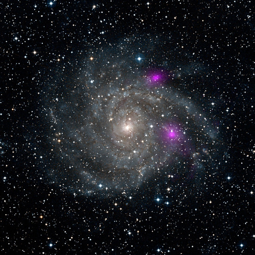 Blazing Black Holes Spotted in Spiral Beauty