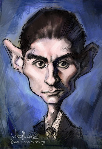 digital sketch study of Franz Kafka - 3