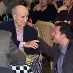 Tony Stewart talks with Earl Baltes