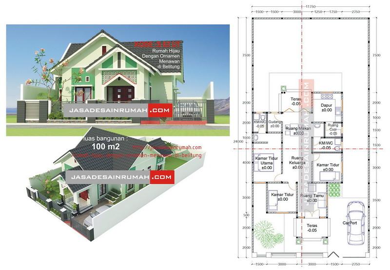 Kombinasi Warna Cat Rumah Hijau Lumut model rumah hijau model rumah terbaru model rumah terbaru