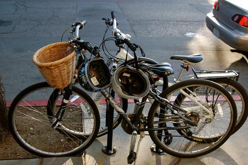 Bikes with Helmets