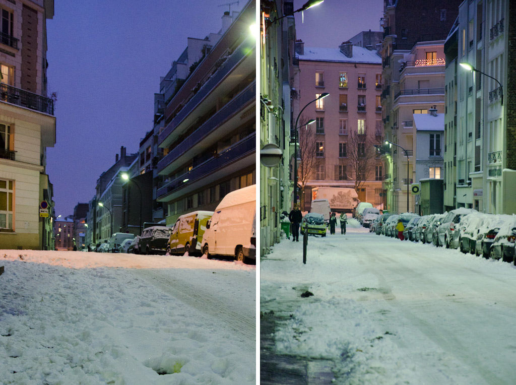 La rue Ramus sous la neige