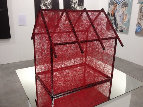 IMG_2191_Chiharu Shiota, State Of Being (red house), 2012 - ARNDT Gallery