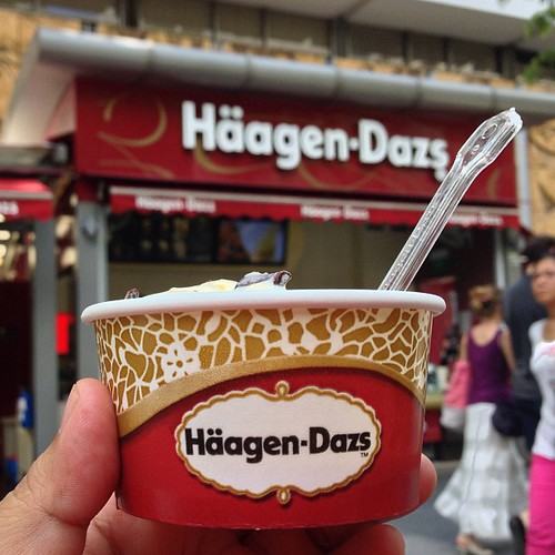 break time. #haagendazs #icecream