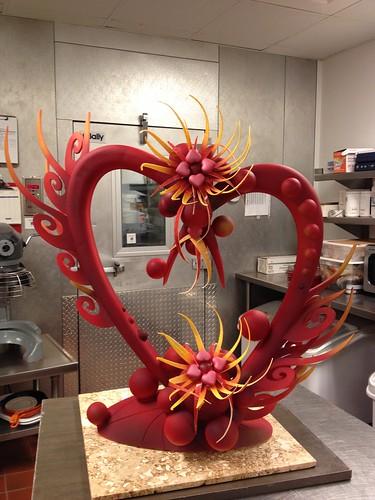 Valentines Chocolate sculpture