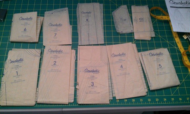 Hollyburn Skirt Pattern Pieces Cut and Ready to Go
