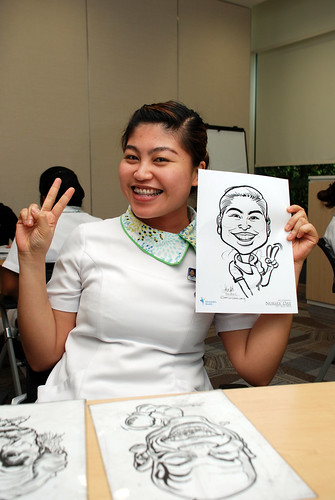 caricature live sketching for Khoo Teck Puat Hospital, Nurses' Day - 5