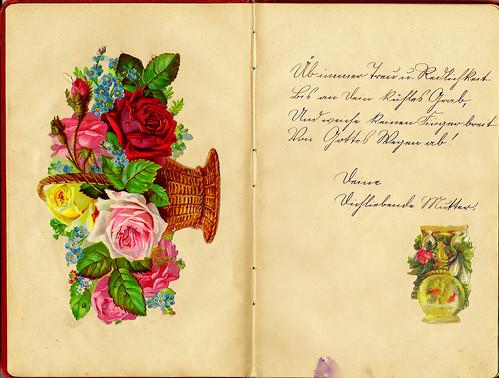 Klaras Poesiealbum 1916 Sütterlin Üb immer Treu und Redlichkeit