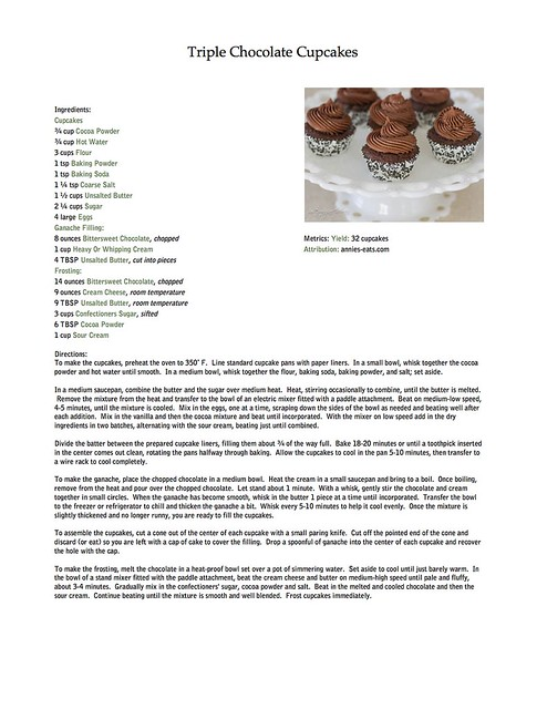 Triple Chocolate Cupcakes Recipe copy