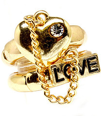 Your Fashion Jewellery - Pretty Heart, Chain & Love Ring