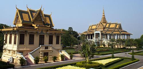 city building architecture buildings garden asian asia cambodia southeastasia cambodian khmer palace phnompenh pavillion royalpalace nationalpalace southeastasian earthasia moonlightpavillion
