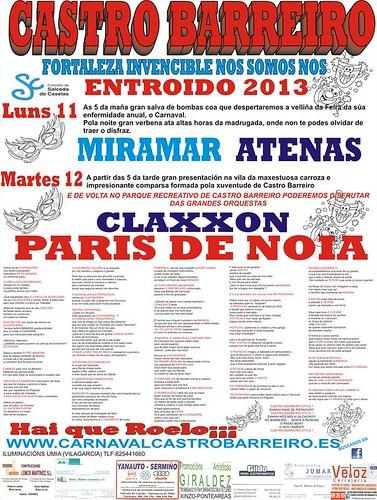 Salceda de Caselas 2013 - Entroido en Castro Barreiro - cartel