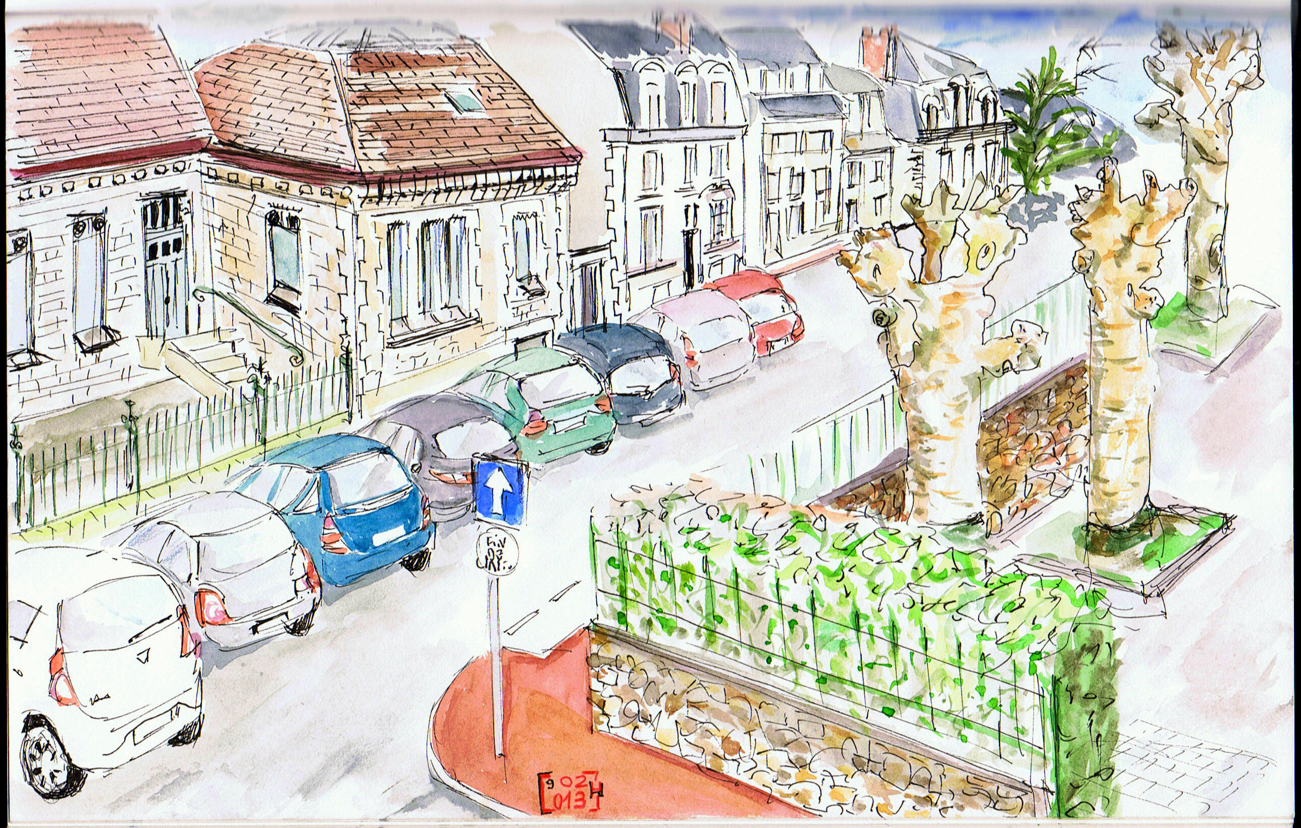 Angle rue François Perrin &amp&#x3B;rue Montalembert