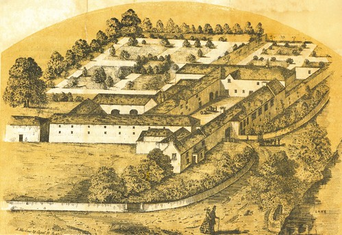 1859. Ariel View of the Old Brewery/Monaghan Campus, Ireland