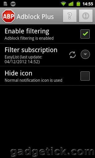 AdBlock Plus в Android 4.2.2