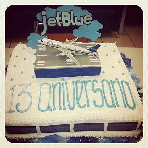 JetBlue's 13th Birthday Cakes