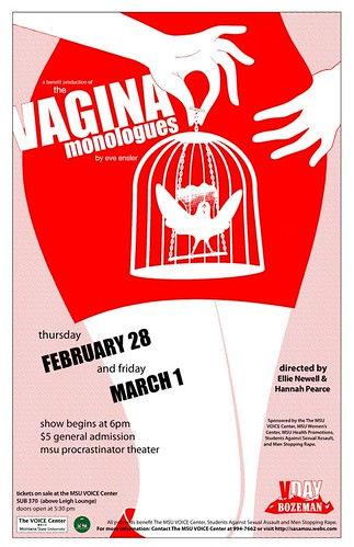 Vagina Monologues 2013 Poster