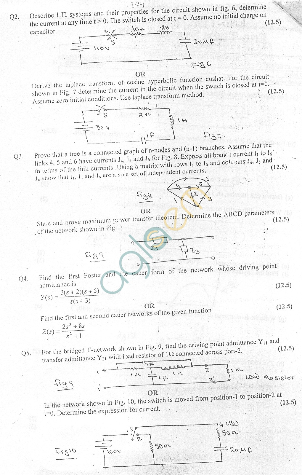 GGSIPU Question Papers Third Semester – End Term 2006 – ETEC-205