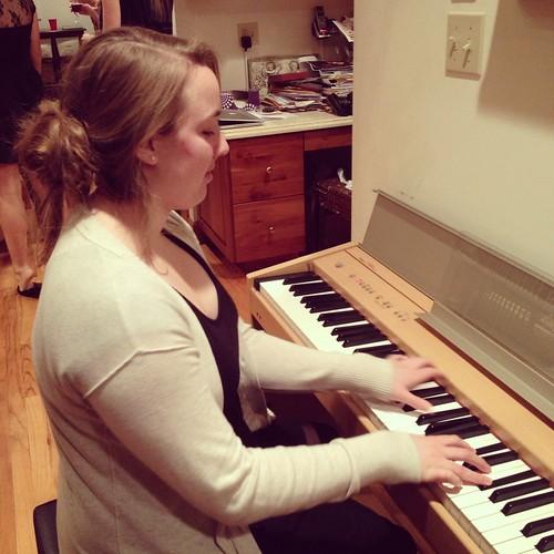 Emily on the keys