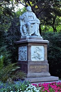 Image of Franz Schubert. vienna austria stadtpark