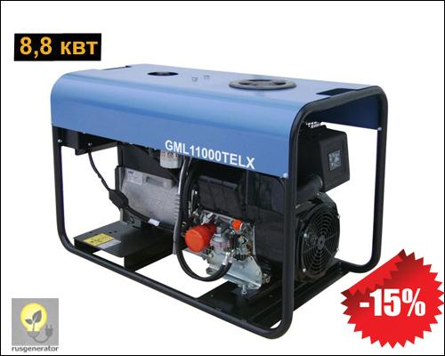 Портативный дизельный генератор 8,8 квт, GMGEN 11000TELX
