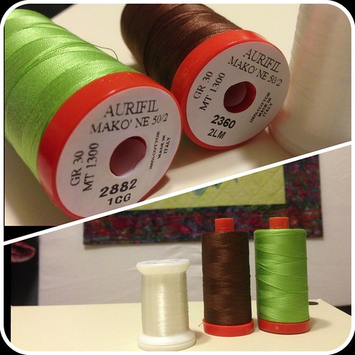 Aurifil Thread used to quilt Iris Quilt