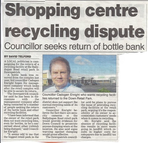 Return of bottle bank in Asda in Downpatrick Aug 2012 by CadoganEnright