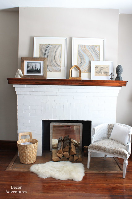 Everyday Winter Mantel Decorating 187 Decor Adventures