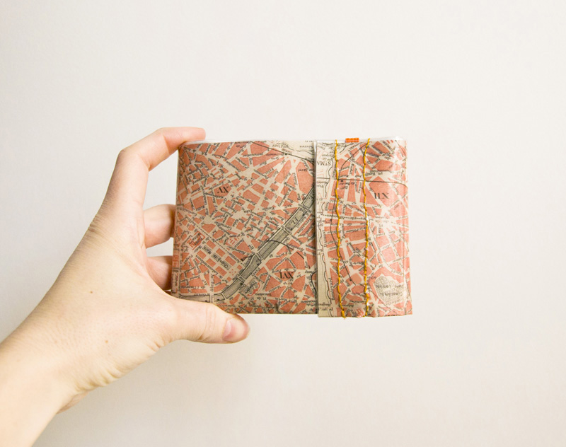 Paris map wallet