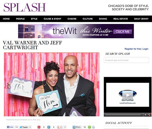 Val Warner's Engagement Party, SunTimes Splash feature
