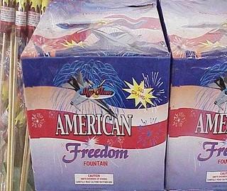 中國製造的「美國自由」牌煙花!