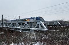 Balade dans la neige - Passage d'un TER