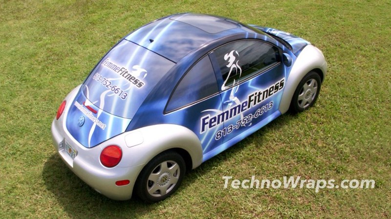 VW Beetle car wrap by TechnoSigns Orlando