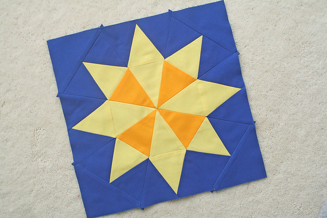 Evening Star block from the Summer Sampler Series